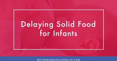 Delaying Solid Food for Infants